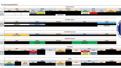 Horarios CB Macasta. Temporada 2020-2021